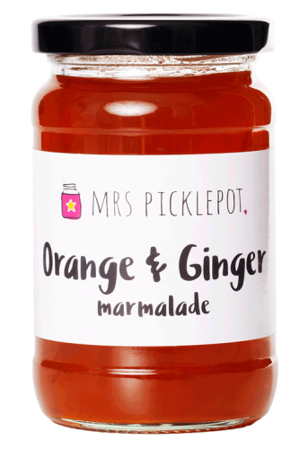 Mrs Picklepot orange and ginger marmalade