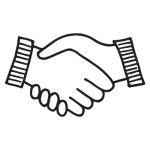 Mrs Picklepot partnerships icon handshake