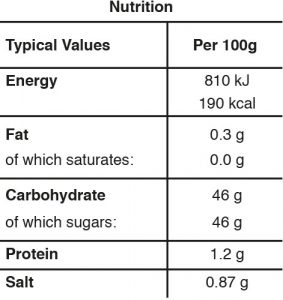 spicy tomato chutney nutrition table